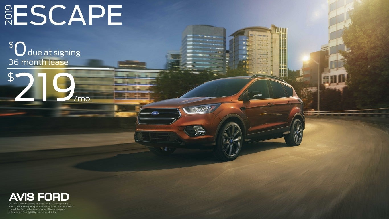 Ford Escape Lease >> Lease Vehicle Specials Avis Ford In Southfield Mi